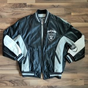 Vintage Carl Banks Raiders Leather Jacket